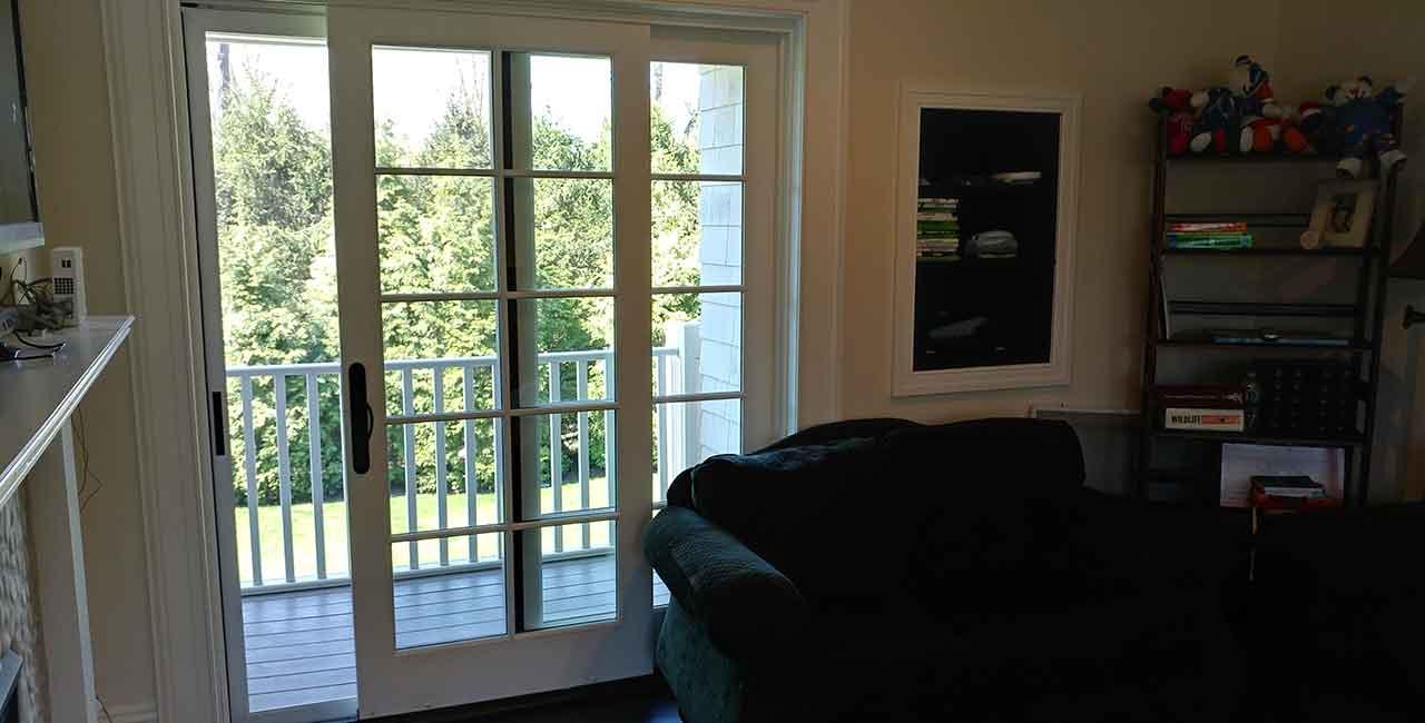 Mullioned glass doors