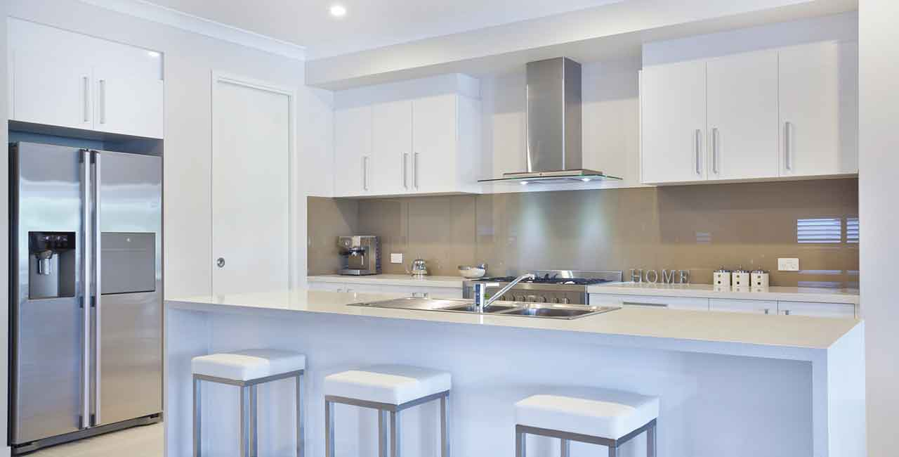 White-and-stainless-steel-kitchen