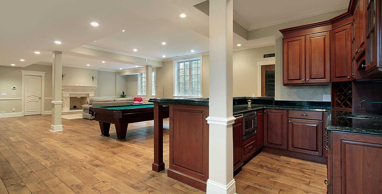 Refinished-basement-with-kitchen-in-CT