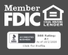 FDIC-Insured-BBB A+ Rating